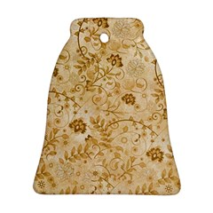 Flower Pattern In Soft  Colors Bell Ornament (2 Sides)
