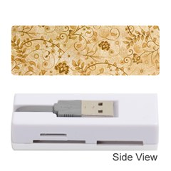 Flower Pattern In Soft  Colors Memory Card Reader (Stick)