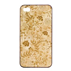Flower Pattern In Soft  Colors Apple iPhone 4/4s Seamless Case (Black)