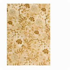 Flower Pattern In Soft  Colors Large Garden Flag (Two Sides)