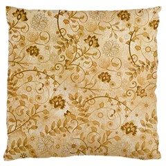 Flower Pattern In Soft  Colors Large Cushion Cases (Two Sides)