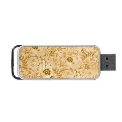 Flower Pattern In Soft  Colors Portable USB Flash (Two Sides)