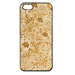 Flower Pattern In Soft  Colors Apple iPhone 5 Seamless Case (Black)