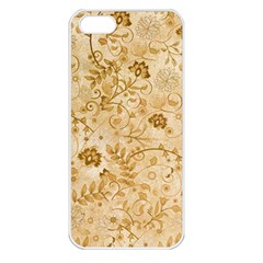Flower Pattern In Soft  Colors Apple iPhone 5 Seamless Case (White)