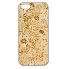 Flower Pattern In Soft  Colors Apple Seamless iPhone 5 Case (Clear)