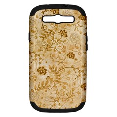 Flower Pattern In Soft  Colors Samsung Galaxy S III Hardshell Case (PC+Silicone)