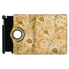 Flower Pattern In Soft  Colors Apple iPad 2 Flip 360 Case