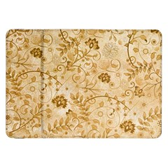 Flower Pattern In Soft  Colors Samsung Galaxy Tab 8.9  P7300 Flip Case