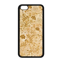 Flower Pattern In Soft  Colors Apple iPhone 5C Seamless Case (Black)