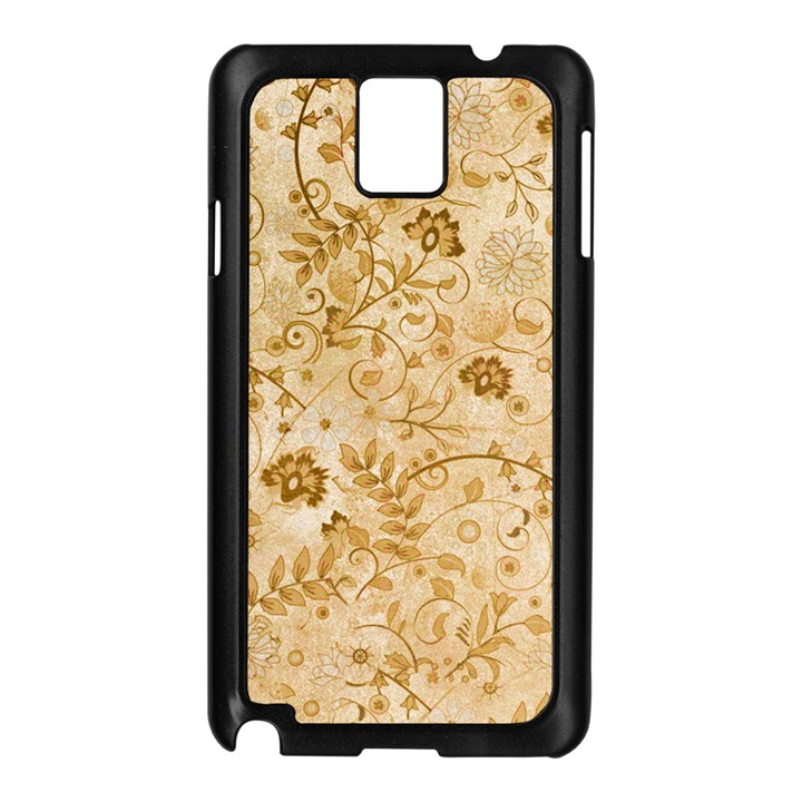 Flower Pattern In Soft  Colors Samsung Galaxy Note 3 N9005 Case (Black)