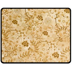 Flower Pattern In Soft  Colors Double Sided Fleece Blanket (Medium)