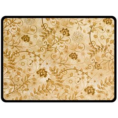 Flower Pattern In Soft  Colors Double Sided Fleece Blanket (Large)