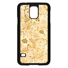 Flower Pattern In Soft  Colors Samsung Galaxy S5 Case (Black)
