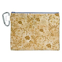 Flower Pattern In Soft  Colors Canvas Cosmetic Bag (xxl)