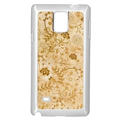 Flower Pattern In Soft  Colors Samsung Galaxy Note 4 Case (white)