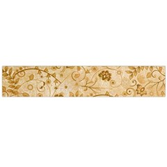 Flower Pattern In Soft  Colors Flano Scarf (Large)