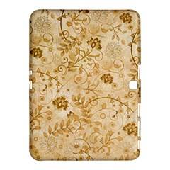 Flower Pattern In Soft  Colors Samsung Galaxy Tab 4 (10.1 ) Hardshell Case