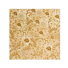 Flower Pattern In Soft  Colors Small Satin Scarf (Square)