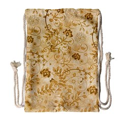 Flower Pattern In Soft  Colors Drawstring Bag (Large)