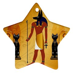 Anubis, Ancient Egyptian God Of The Dead Rituals  Ornament (Star)