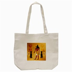 Anubis, Ancient Egyptian God Of The Dead Rituals  Tote Bag (Cream)
