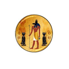 Anubis, Ancient Egyptian God Of The Dead Rituals  Hat Clip Ball Marker