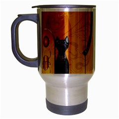 Anubis, Ancient Egyptian God Of The Dead Rituals  Travel Mug (Silver Gray)