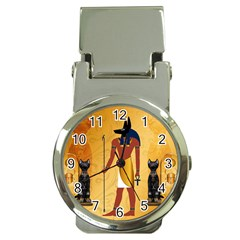 Anubis, Ancient Egyptian God Of The Dead Rituals  Money Clip Watches
