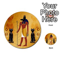 Anubis, Ancient Egyptian God Of The Dead Rituals  Multi Purpose Cards (round)