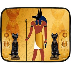 Anubis, Ancient Egyptian God Of The Dead Rituals  Fleece Blanket (Mini)