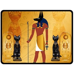 Anubis, Ancient Egyptian God Of The Dead Rituals  Fleece Blanket (large)