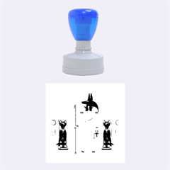 Anubis, Ancient Egyptian God Of The Dead Rituals  Rubber Round Stamps (medium)