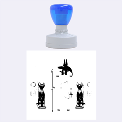 Anubis, Ancient Egyptian God Of The Dead Rituals  Rubber Round Stamps (Large)
