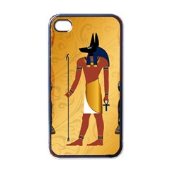Anubis, Ancient Egyptian God Of The Dead Rituals  Apple iPhone 4 Case (Black)