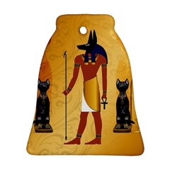 Anubis, Ancient Egyptian God Of The Dead Rituals  Ornament (Bell)