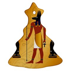 Anubis, Ancient Egyptian God Of The Dead Rituals  Christmas Tree Ornament (2 Sides)