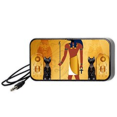 Anubis, Ancient Egyptian God Of The Dead Rituals  Portable Speaker (Black)