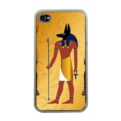 Anubis, Ancient Egyptian God Of The Dead Rituals  Apple iPhone 4 Case (Clear)