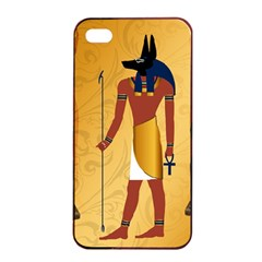 Anubis, Ancient Egyptian God Of The Dead Rituals  Apple iPhone 4/4s Seamless Case (Black)