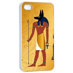 Anubis, Ancient Egyptian God Of The Dead Rituals  Apple iPhone 4/4s Seamless Case (White)