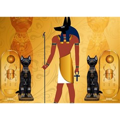 Anubis, Ancient Egyptian God Of The Dead Rituals  Birthday Cake 3D Greeting Card (7x5)