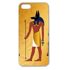 Anubis, Ancient Egyptian God Of The Dead Rituals  Apple Seamless iPhone 5 Case (Clear)