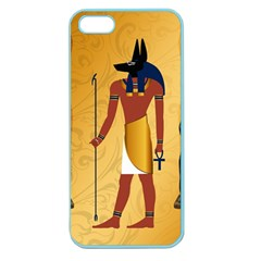 Anubis, Ancient Egyptian God Of The Dead Rituals  Apple Seamless iPhone 5 Case (Color)