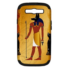 Anubis, Ancient Egyptian God Of The Dead Rituals  Samsung Galaxy S III Hardshell Case (PC+Silicone)