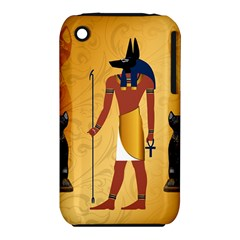 Anubis, Ancient Egyptian God Of The Dead Rituals  Apple iPhone 3G/3GS Hardshell Case (PC+Silicone)
