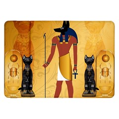 Anubis, Ancient Egyptian God Of The Dead Rituals  Samsung Galaxy Tab 8 9  P7300 Flip Case