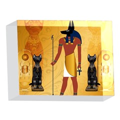 Anubis, Ancient Egyptian God Of The Dead Rituals  5 x 7  Acrylic Photo Blocks