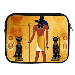 Anubis, Ancient Egyptian God Of The Dead Rituals  Apple iPad 2/3/4 Zipper Cases