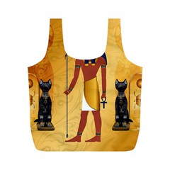 Anubis, Ancient Egyptian God Of The Dead Rituals  Full Print Recycle Bags (M)