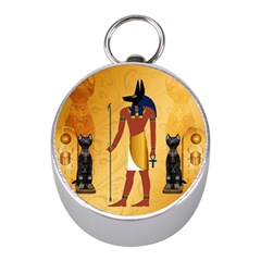 Anubis, Ancient Egyptian God Of The Dead Rituals  Mini Silver Compasses